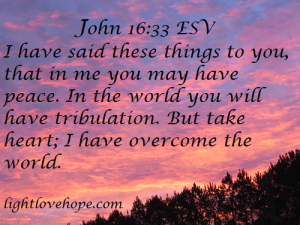 Jesus Has Overcome The World